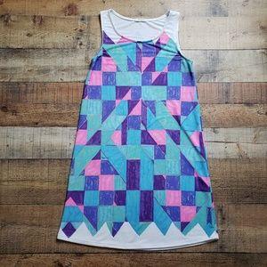 12PM by Mon Ami | Sleeveless Geometric Print Dress